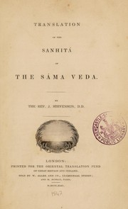 Cover of: Translation of the Sanhitá of the Sáma Veda | Stevenson, John