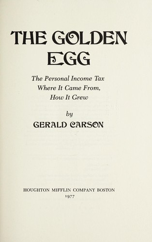 The golden egg by Gerald Carson