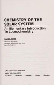 Cover of: Chemistry of the solar system