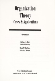 Cover of: Organizational Theory