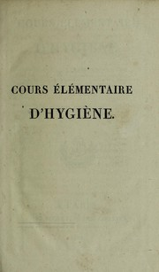 Cover of: Cours elementaire d'hygiene