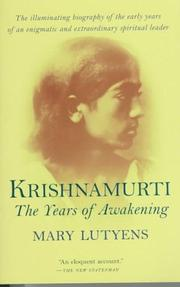Cover of: Krishnamurti