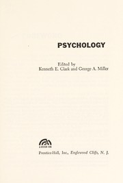 Cover of: Psychology. | Behavioral and Social Sciences Survey Committee. Psychology Panel.