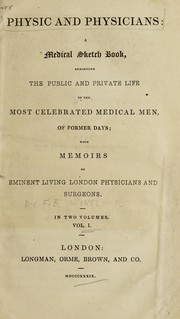 Cover of: Physic and physicians