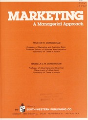 Cover of: Marketing | William H. Cunningham