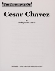 Cover of: Cesa r Chavez | Linda Jacobs Altman
