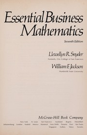 Cover of: Essential business mathematics | Llewellyn R. Snyder