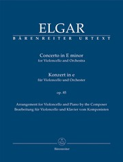 Cover of: Concerto in E Minor for Violoncello and Orchestra, op. 85