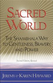 Cover of: Sacred world | Jeremy W. Hayward