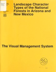 Cover of: Landscape character types of the national forests in Arizona and New Mexico | United States. Forest Service. Southwestern Region
