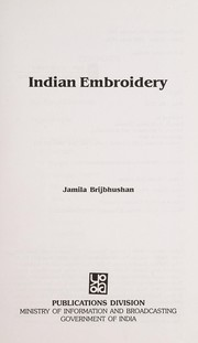 Cover of: Indian embroidery
