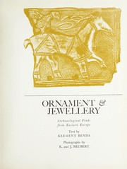 Cover of: Ornament & jewellery [sic] | Klement Benda