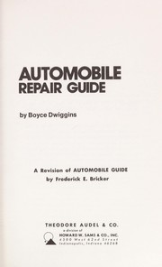 Cover of: Automobile repair guide