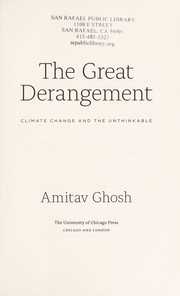 Cover of: The great derangement