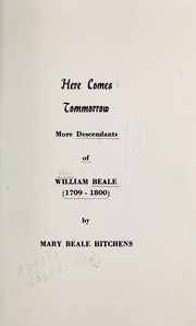Cover of: Here comes tommorrow [sic] | Mary Beale Hitchens
