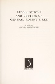 Cover of: Recollections & Letters of Robert Lee (Civil War Library)