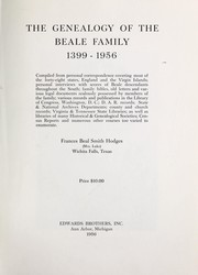 Cover of: The genealogy of the Beale family (1399-1956) ..