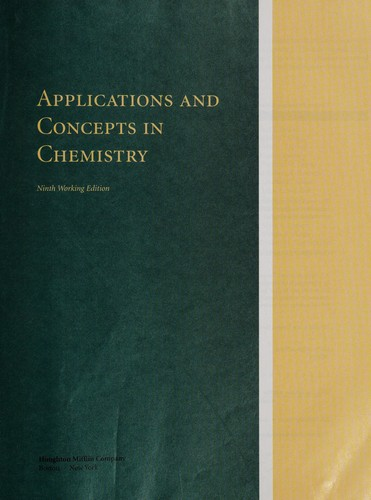 Applications and Concepts in Chemistry by FURSTENAU