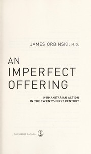 Cover of: An imperfect offering | James Orbinski