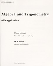 Cover of: Algebra and trigonometry with applications