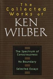Cover of: spectrum of consciousness | Ken Wilber