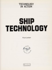 Cover of: Ship technology | Lambert, Mark