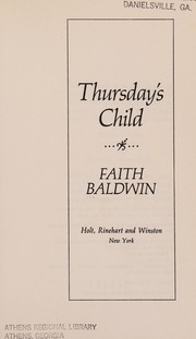 Cover of: Thursday's child