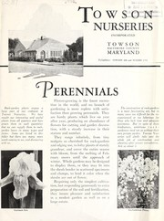 Cover of: Perennials [bulletin and price list] | Towson Nurseries, Inc