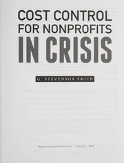Cover of: Cost control for nonprofits in crisis