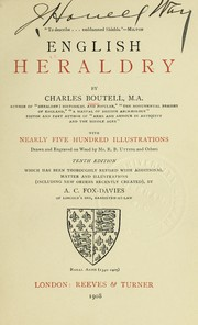 Cover of: English heraldry