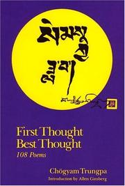 Cover of: First Thought, Best Thought: 108 Poems