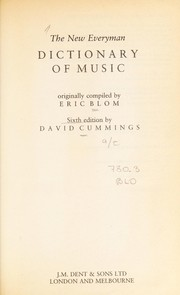 Cover of: The new Everyman dictionary of music