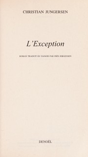 Cover of: L'exception