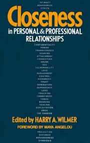Cover of: Closeness in Personal and Professional Relationships