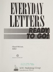 Cover of: Everyday letters ready to go