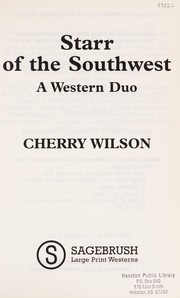 Cover of: Starr of the southwest