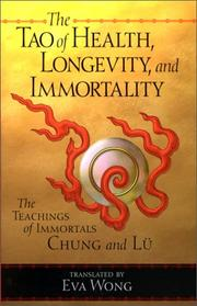 Cover of: Tao of Health, Longevity, and Immortality