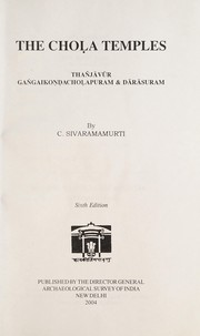 Cover of: The Choḷa temples