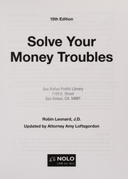 Cover of: Solve your money troubles | Robin Leonard