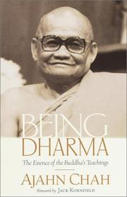 Cover of: Being dharma: the essence of the Buddha's teachings