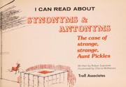Cover of: I Can Read About Synonyms And Antonyms | Robyn Supraner