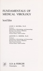 Cover of: Fundamentals of medical virology | Louis S. Kucera