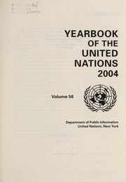 Cover of: Yearbook of the United Nations. | United Nations. Office of Public Information.