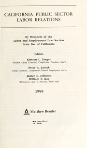 Cover of: California employment law | editorial consultant, M. Kirby Wilcox ... [et al.].