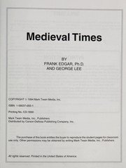 Cover of: Medieval Times 325-1453 Ad
