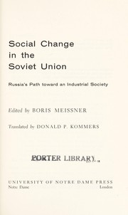 Cover of: Social change in the Soviet Union