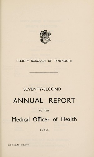 [Report 1952] by Tynemouth (England). County Borough Council