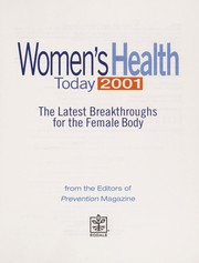 Cover of: Women's health today 2001 | from the editors of Prevention Magazine.