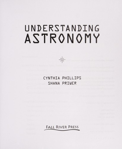 Understanding astronomy by Cynthia Phillips