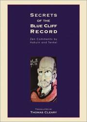 Cover of: Secrets of the Blue Cliff Record | Thomas Cleary